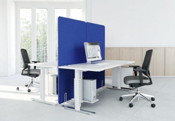 Bílé kancelářské stoly - Kancelářský nábytek YAN