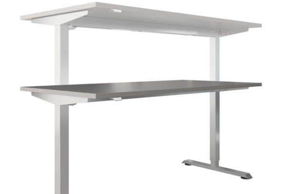 Bílé kancelářské stoly - Kancelářská sestava GEO