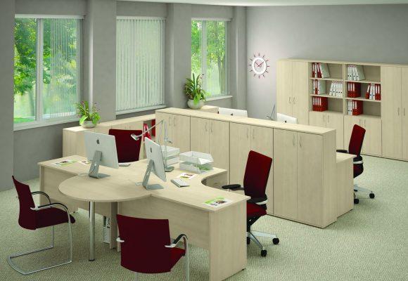 Rohové kancelářské stoly - Kancelářská sestava EASY